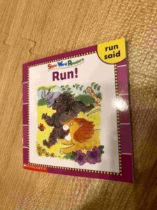 "sight word readers ""Run!"""
