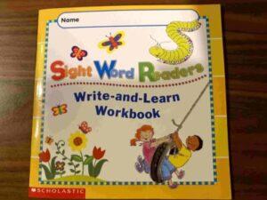 workbook of sight word readers